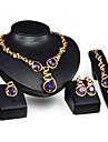 Аметист Хрусталь Сплав Лиловый 1 пара сережек 1 браслет Ожерелья Кольца Для Свадьба Для вечеринок 1 комплект Свадебные подарки