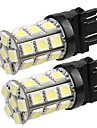 2 * T20 3157 4.057 auto staart back richtingaanwijzer lamp 5050smd zuiver wit 27 LED-licht 12v