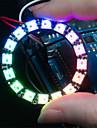 ws2812 5050 RGB светодиодный 16-круглый доска развития лампа - черный