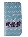 iPhone 7 Plus Black Elephant Painted PU Phone Case for iPhone 6s 6 Plus SE 5s 5c 5 4s 4