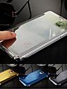 aleta luxo inteligente magro s-view toque espelho galvanizados duro clara tampa da caixa transparente para Samsung Galaxy nota 4