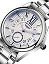 Herren Kleideruhr Quartz Wasserdicht Edelstahl Band Armbanduhr Silber