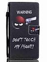 Corpo Completo carteira / Entrada de Cartao / com suporte Palavra / Frase Couro Ecologico Duro Case Capa Para Huawei Huawei P8 Lite