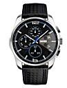 SKMEI Men\'s Wrist watch Quartz Japanese Quartz Calendar Chronograph Water Resistant / Water Proof Leather Band Black