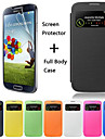 DF Colorful Touch Window Full Body Case with 1pc Screen Protector for Samsung S4 I9500 (Assorted Color)