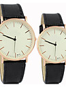 Couple\'s Simple and Casual Round Dial Belt Fashion Quartz Watches