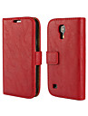 Bark Grain PU Leather Full Body Cover with Stand and Case for Samsung Galaxy S4 Mini I9190