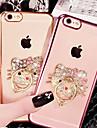 Para Capinha iPhone 6 / Capinha iPhone 6 Plus Com Strass / Cromado / Suporte para Aliancas / Transparente / Estampada CapinhaCapa