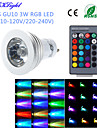 YouOKLight® 1PCS GU10/E14 3W 1-High Power LED Decoration Bulb Remote Lamps RGB Light 260lm  (AC110-120V/220-240V)