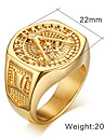 Men\'s Women\'s Band Rings Fashion Costume Jewelry Gold Plated Steel 18K gold Jewelry For Party