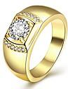 ale quente ouro amarelo finih 925 do ilver Terling para homens com 6x8mm cúbicos zircônia jóias oval