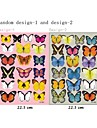3d seinä tarroja Seinätarrat, 19pcs värikkäitä perhosia pvc seinä tarroja
