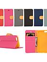 Pour Coque iPhone 5 Porte Carte / Portefeuille / Avec Support / Clapet Coque Coque Integrale Coque Couleur Pleine Dur Cuir PUiPhone