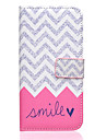 Smile Pattern PU Leather Stand Card Slot Case for Galaxy S7
