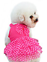Dog Dress Red / Yellow / Blue / Pink Dog Clothes Summer / Spring/Fall Bowknot / Polka Dots Fashion