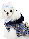 Dog Coat Yellow / Blue Dog Clothes Winter Stars Fashion