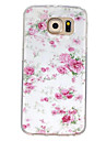 For Samsung Galaxy Case Pattern Case Back Cover Case Flower TPU Samsung S7 / S6 edge / S6