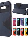 Para Samsung Galaxy Capinhas Case Tampa Porta-Cartao Com Suporte Flip Magnetica Corpo Inteiro Capinha Cor Solida Couro Ecologico para