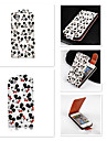Mickey  Pattern Up-down Turn Over PU Leather Full Body Case for iPhone 5/5S