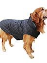Dog Coat / Jacket / Vest Red / Green / Brown / Beige Dog Clothes Winter Plaid/Check Keep Warm / Reversible