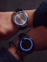 Мужской Женские Для пары Спортивные часы Сенсорный дисплей Цифровой Кожа Группа Разноцветный