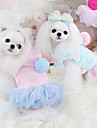 Dog Dress Blue / Pink Dog Clothes Winter Fashion