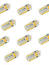 6W G4 Двухштырьковые LED лампы T 72 SMD 3014 600 lm Тёплый белый / Холодный белый Декоративная DC 12 / AC 12 / AC 24 / DC 24 V 10 шт.