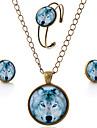 Ensemble de bijoux Gemme Verre Alliage Simple Style Marron Soiree Quotidien Decontracte 1setColliers decoratifs Boucles d\'oreille