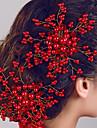 Les peignes de bijoux fleur de cheveux de perles des femmes pour la fete de mariage