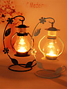 Couples Birthday Gift Classic Originality European Condole Lantern Hollow-Out Pavilion, Wrought Iron Candlestick