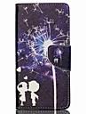 에이서 액체 Z520에 대한 카드 슬롯이 질감 가죽 자기 스탠드 전화 케이스 크로스 - 연인과 민들레