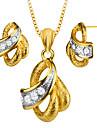 Ожерелье / серьги Циркон Позолота Ожерелья Серьги Для Свадьба Для вечеринок Повседневные 1 комплект Свадебные подарки