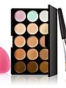 15 CorretivoEsponja de Po de Arroz/Esponja de Maquiagem / Pinceis de Maquiagem Molhado RostoCobertura / Branqueamento / Longa Duracao /