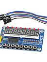 8-разрядный светодиодный цифровой трубки 8 ключей модуль дисплея tm1638 8-разрядный для АРН Arduino руку