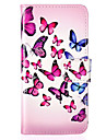 Butterfly Pattern Embossed PU Leather Case for iPhone 5/iPhone 5S/iPhone SE