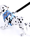 Adjustable Checked Dog Vest Harness for Pets Dogs  Rope