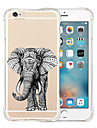 Pour Coque iPhone 6 Coques iPhone 6 Plus Antichoc Transparente Motif Coque Coque Arriere Coque Animal Flexible Silicone pouriPhone 6s