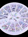 New 2 Sizes Colorful Nail Art Rhinestone Decoration/Beautiful Transparent Glitter Decoration for Nails