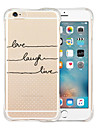 For iPhone 6 Case / iPhone 6 Plus Case Shockproof / Transparent / Pattern Case Back Cover Case Word / Phrase Soft SiliconeiPhone 6s