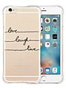 용 아이폰6케이스 / 아이폰6플러스 케이스 충격방지 / 투명 / 패턴 케이스 뒷면 커버 케이스 단어 / 문구 소프트 실리콘 iPhone 6s Plus/6 Plus / iPhone 6s/6