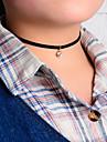 Женский Ожерелья с подвесками Татуировка Choker Кристалл Ткань Тату-дизайн Простой стиль Черный Бижутерия Для вечеринок Повседневные 1шт