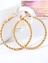 Earring Hoop Earrings Jewelry Women Wedding / Party / Daily / Casual Alloy 1 pair Gold