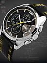 Hombre Reloj de Pulsera Cuarzo Japones Calendario / Cronografo / Resistente al Agua Piel Banda Negro Marca- SKMEI