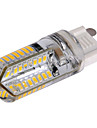 1 pcs E14 / G9 / G4 6 W 64 SMD 3014 540 LM Warm White / Cool White LED Corn Bulbs AC 100-240 V