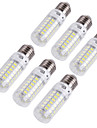YouOKLight® 6PCS E14/E27 4W 240lm CRI>80 3000K/6000K 69*SMD5730 LED Light Corn Bulb (110-120V/220-240V)