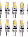 Ywxlight® 10 pcs g4 2w 6 smd 5730 200 lm blanc chaud / blanc frais t lumieres decoratives bi-pin dc 12 v