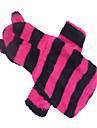 Собаки Толстовки Красный / Зеленый / Черный / серый / Розоватый Одежда для собак Зима Полоски Косплей