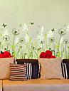 Мода / Цветы Наклейки Простые наклейки,PVC 50*70cm(19.7*27.6 inch)