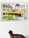 Мода Пейзаж 3D Наклейки 3D наклейки Декоративные наклейки на стены,# материал Съемная Украшение дома Наклейка на стену