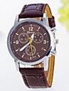 Reloj Pulsera Quartz Analogo Impermeable de PU para Hombres gz0009017 - Marron